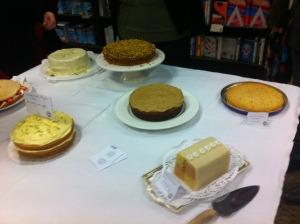 There were so many cakes that a second table was brought out. This photo was taken before some more stunning cakes were added to the display,