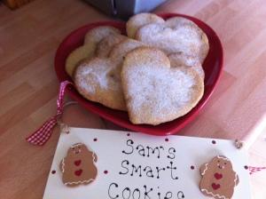 Hazelnut shortbread cookies as adapted from Jo Wheatley's recipe.