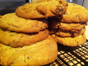 Giant Chewy Cadbury Dairy Milk Cookies.