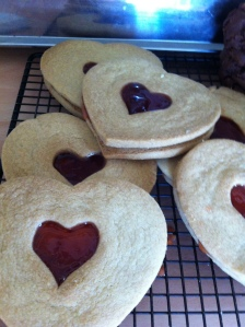 Giant Linzer Cookies