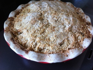 Marian Keyes' recipe for Rhubarb Crumble, a traditional well loved classic, only it has apple in it!