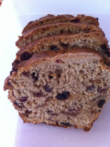 Bara Brith (Welsh fruit loaf).  I took this loaf into work to share with my colleagues.