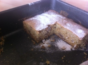 The blondies had a cakey, spongey texture, not at all what I expected.