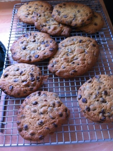 My son asked if he could make these chocolate chip cookies.  They were gorgeous!
