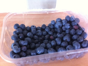 A whole punnet of these gorgeous blueberries went in this cake!