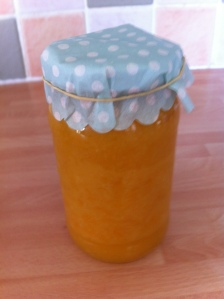 The remainder of the lemon curd was put into a jar and will be used for toast!