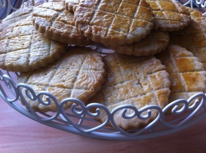 Delicious buttery Vanilla Sables. Perfect with a cup of tea or a scoop of ice cream!