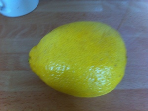 I grated the zest of a large lemon to add to the mixture.