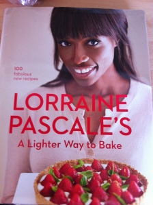 """The front cover of Lorraine Pascale's fab new book """"A Lighter Way To Bake""""."""
