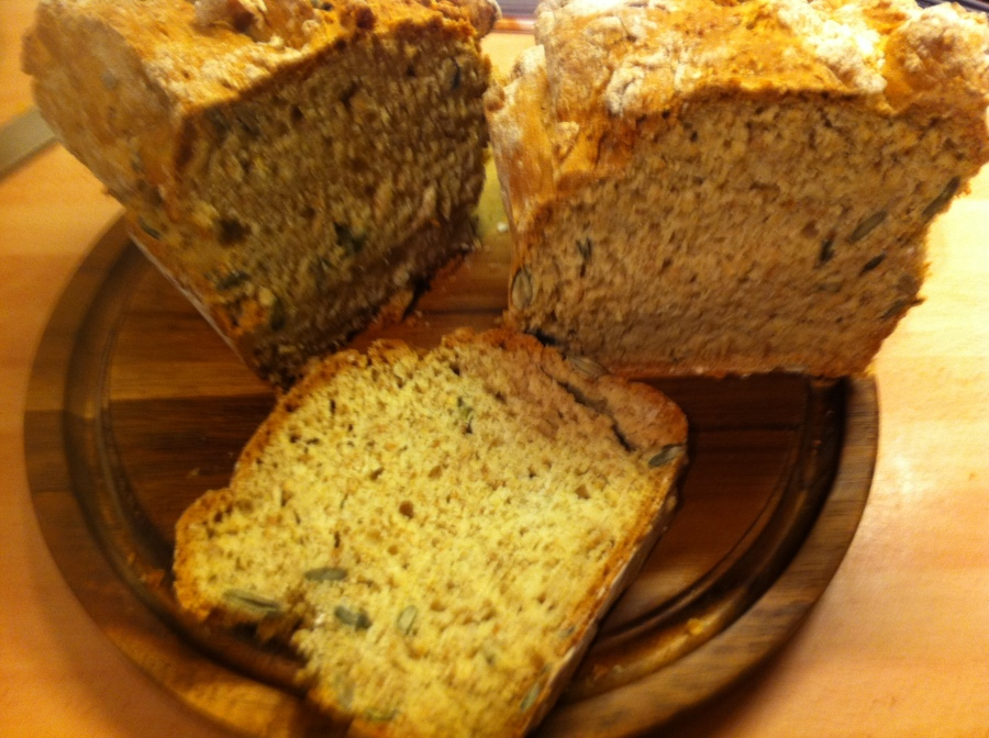 All Grain Nutty Seedy Soda Bread Loaf- A Lighter Way To Bake (Cooking The Books- January 2014.)