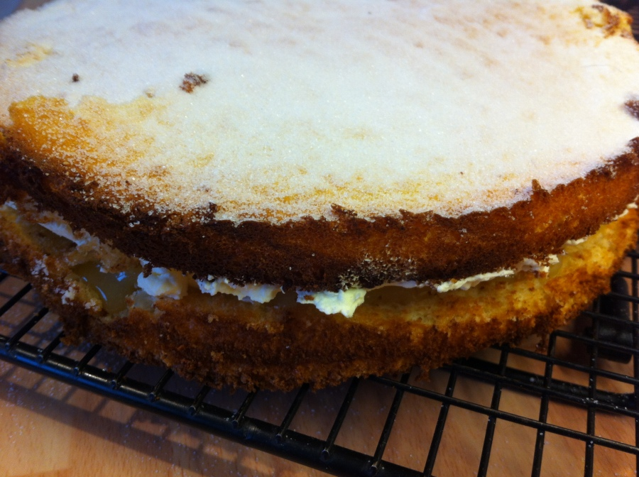 Lemon Griesetorte from Mary Berry's Baking Bible.