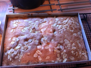 The traybake all finished  and just out of the oven.