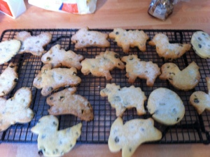 The finished cookies were dusted with a sprinkling of caster sugar.