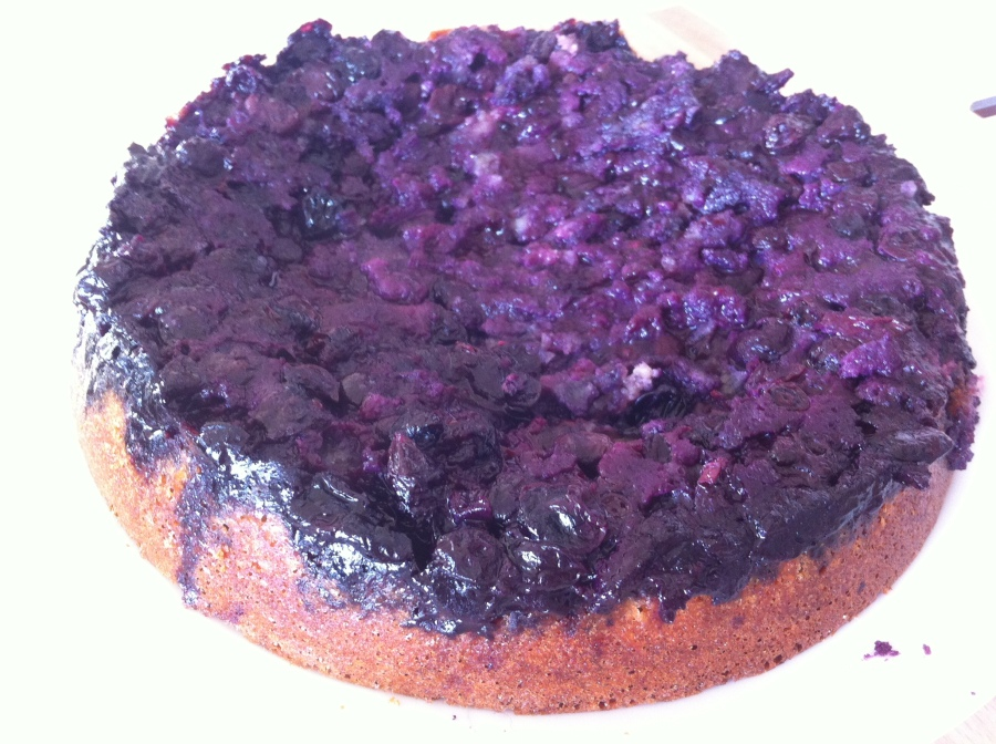 Scandelicious Baking- Blueberry and Elderflower Upside Down Cake.