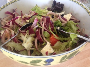 Nigella's Ultimate Greek Salad, was delicious as a side with roast chicken and roasted Mediterranean vegetables.