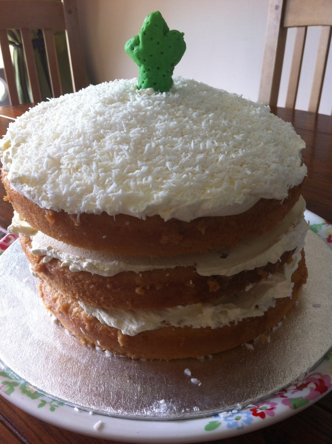 Coconut and Mojito Tres Leches Cake- my own recipe featured in The Clandestine Cake Club A Year Of Cake Book.