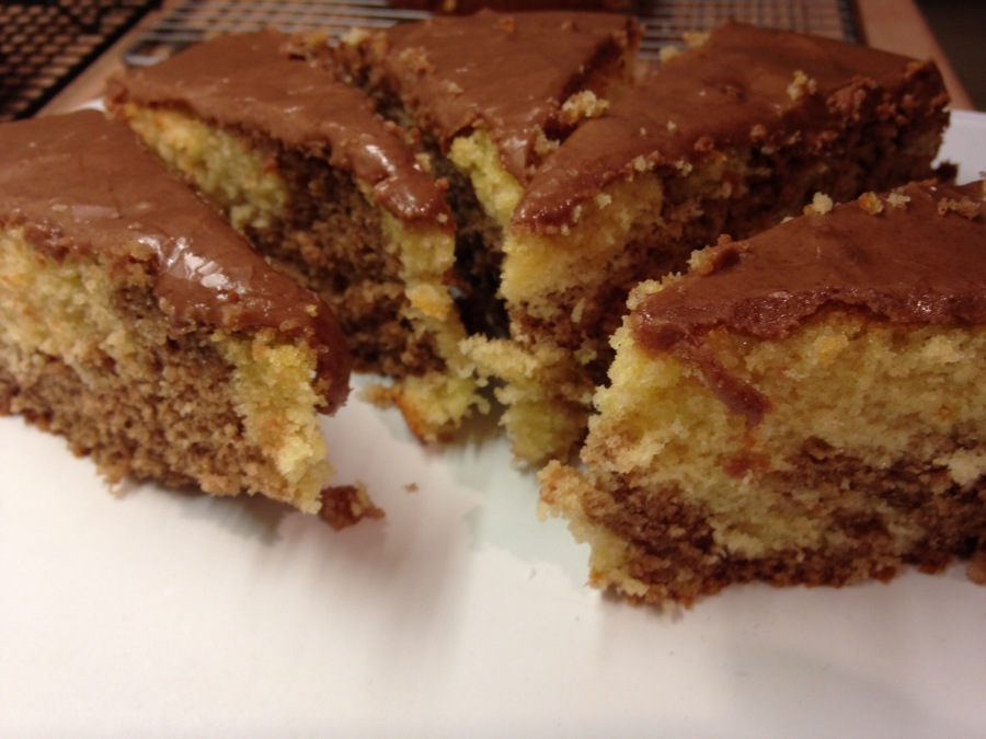 "Chocolate Orange Marble Cake from ""A Year Of Cake"" Celebrating World Mental Health Day."