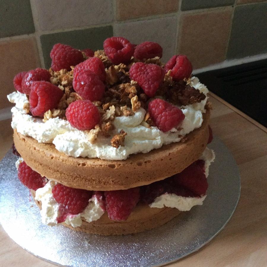 "Raspberry Cranachan Cake- Clandestine Cake Club ""A Year Of Cake January Bakealong"""