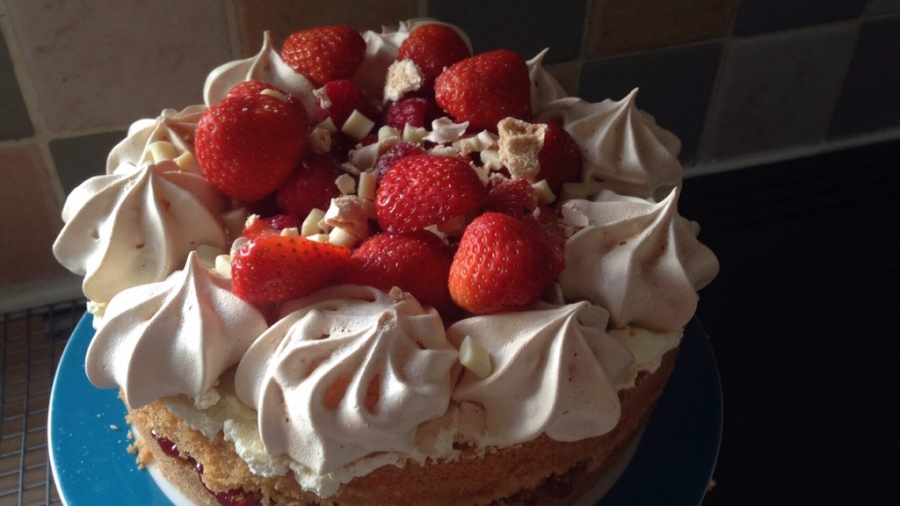Eton Mess Cake- The Clandestine Cake Club A Year Of Cake Bakealong June 2016.