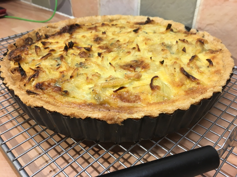 The Great British Bake Off Christmas- Caramelised Onion and Stilton Tart.