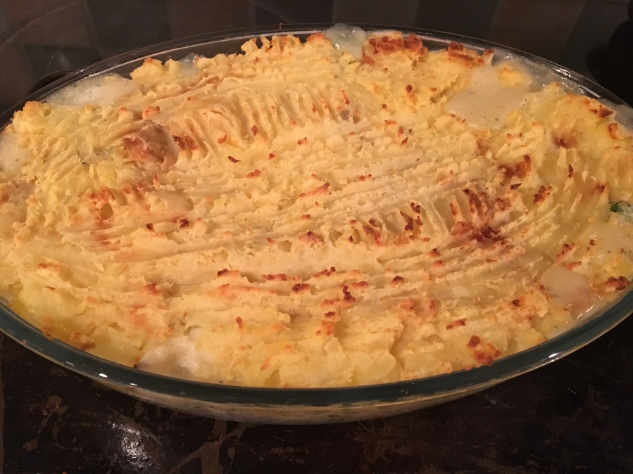 The Great British Bake Off Christmas- Luxury Fish Pie.